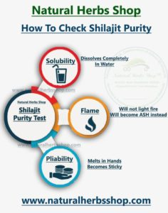 Shilajit Purity test Natural Herbs Shop